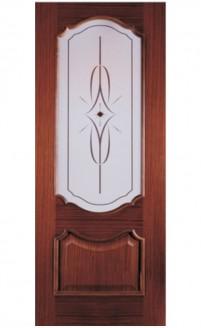 Шпонированная дверь с багетной рамкой Ампир 1
