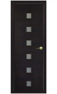 Шпонированная дверь с багетной рамкой Малевич 2