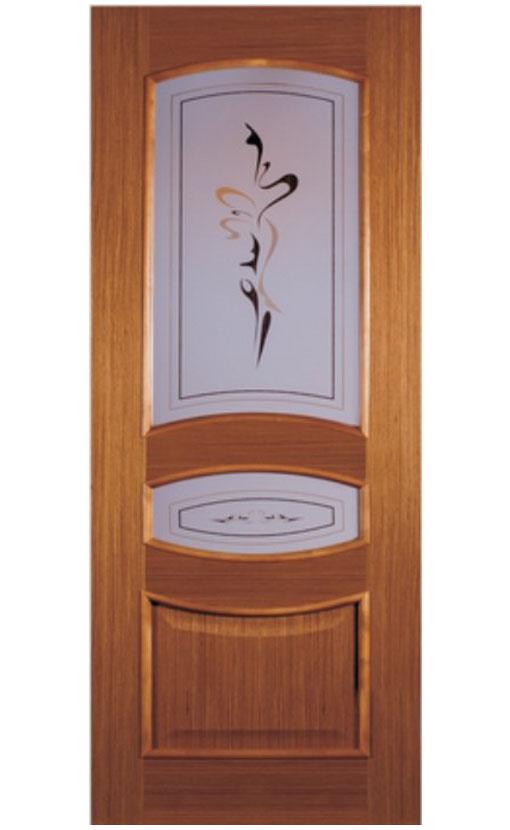Шпонированная дверь с багетной рамкой Ампир 3