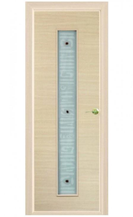 Шпонированная дверь с багетной рамкой Малевич 3
