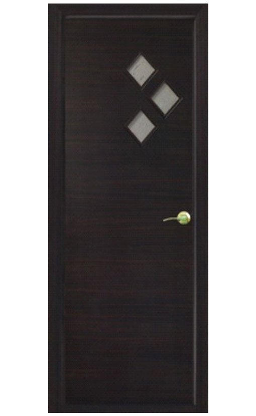 Шпонированная дверь с багетной рамкой Малевич 4