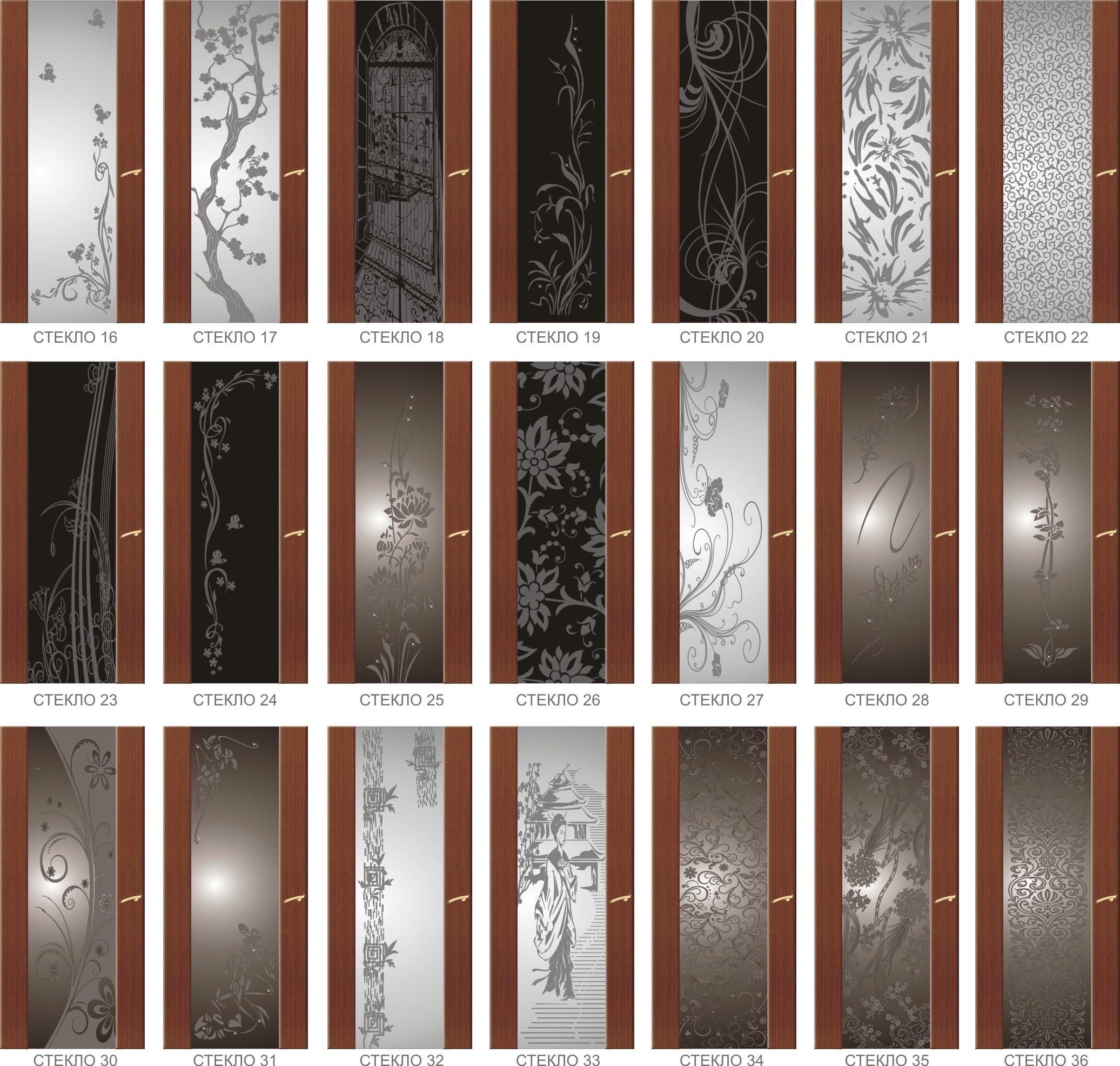 Варианты остекления дверей Трипликс 2